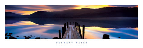 Derwent water - molo plakát