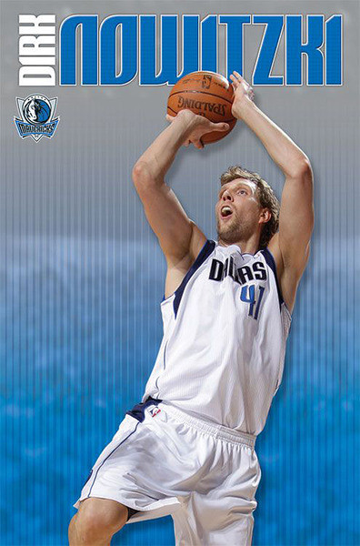 Dirk Nowitzki - dallas mavericks Plakát