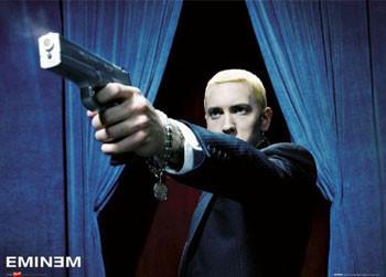 Eminem - shot Plakát