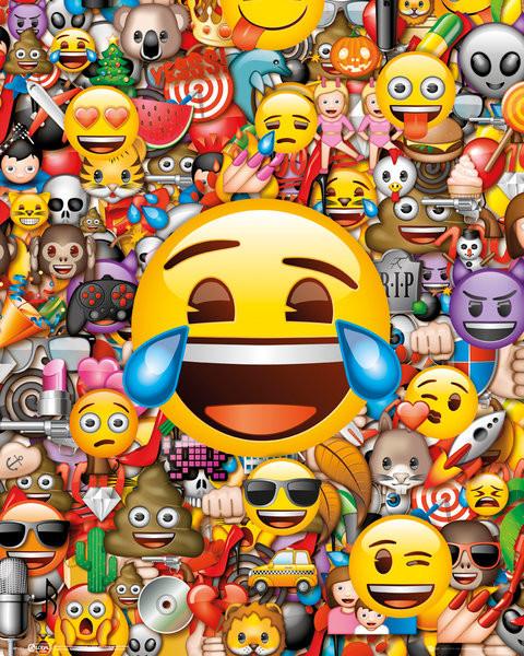 Emoji - Collage Plakát