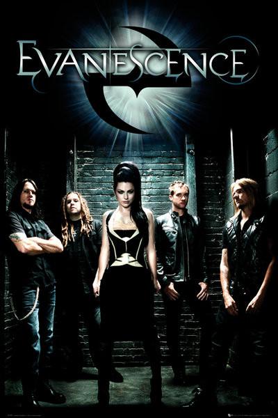 Evanescence - band Plakát
