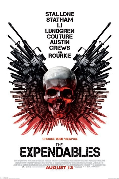 EXPENDABLES - skull one sheet Plakát