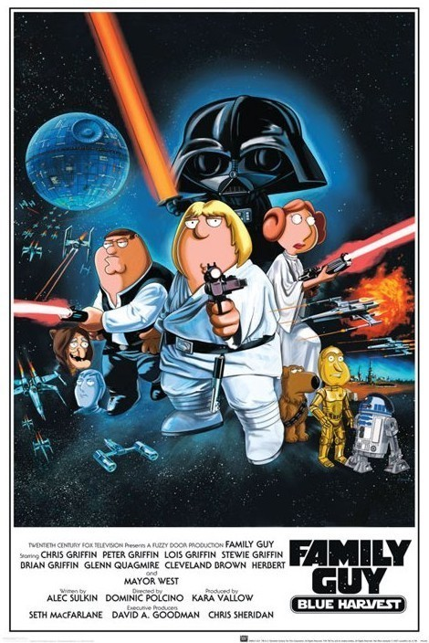 FAMILY GUY - star wars Plakát