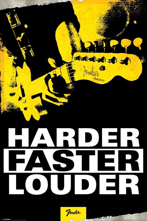 Fender - Harder, Faster, Louder Plakát