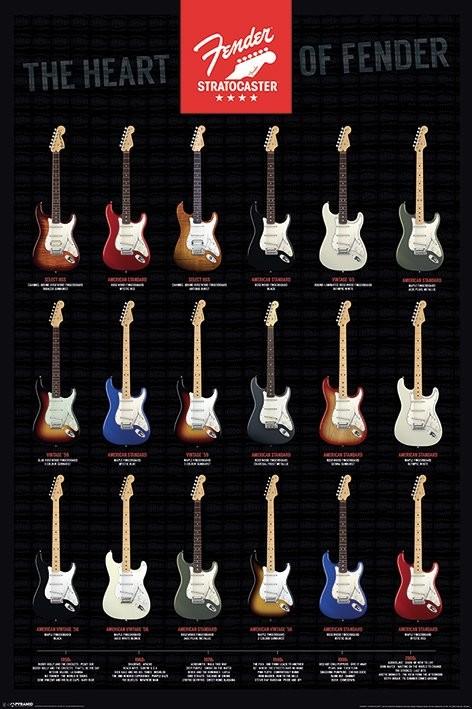 Fender - Stratocaster, the Heart of Fender Plakát