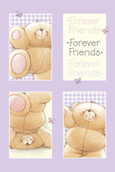 FOREVER FRIENDS - lilac Plakát
