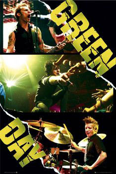 Green Day - collage Plakát