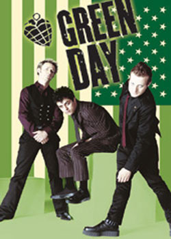 Green Day - flag Plakát
