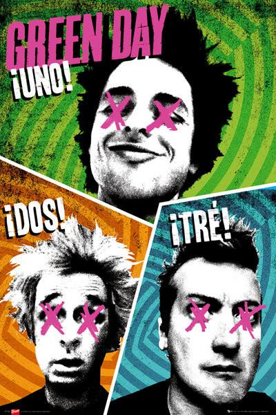 Green Day - trio Plakát
