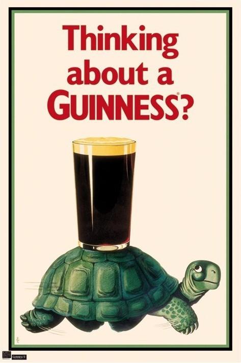 Guinness - tortoise Plakát