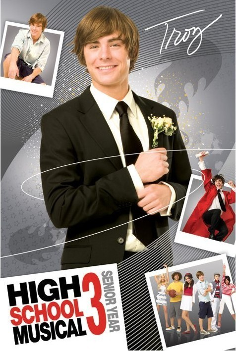 HIGH SCHOOL MUSICAL 3 - troy Plakát