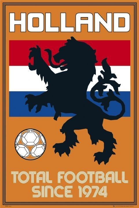 Holland - total football Plakát