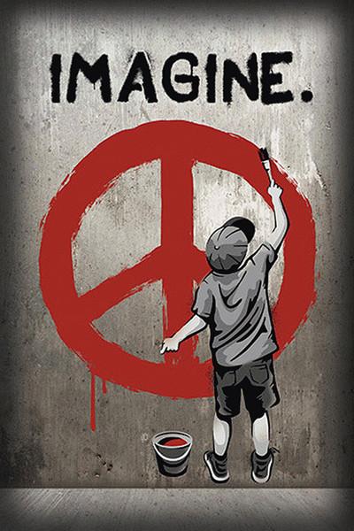 Imagine peace Plakát