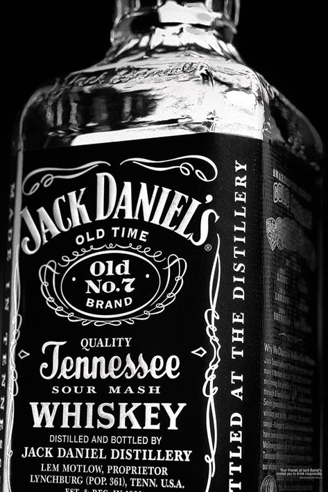 JACK DANIELS - bottle Plakát