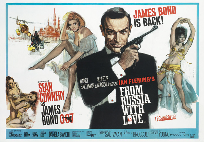 JAMES BOND 007 - from russia with love Plakát