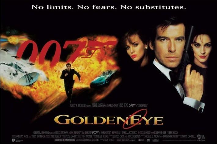JAMES BOND 007 - goldeneye no limits no fears ... plakát