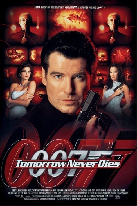 JAMES BOND 007 - tomorrow never dies Plakát