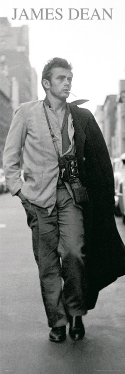 James Dean - black & white photo Plakát