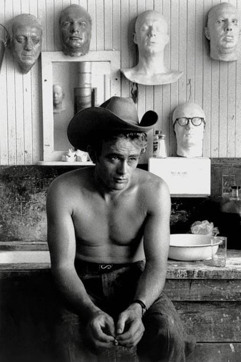 James Dean - topless Plakát