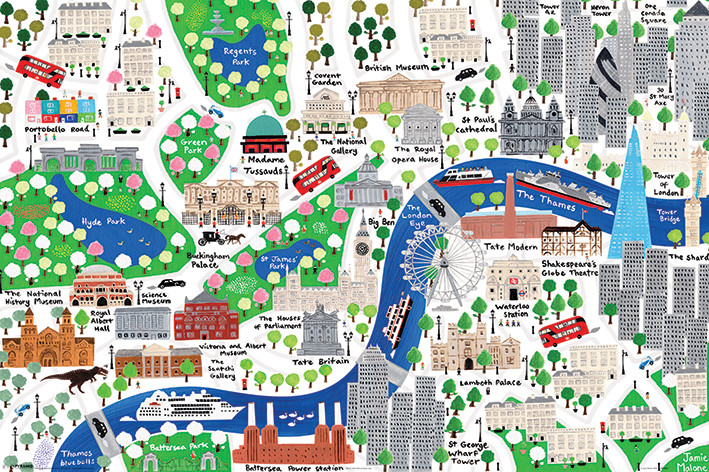 Jamie Malone - London Plakát