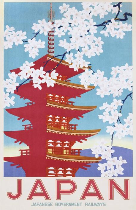Japan railways Plakát