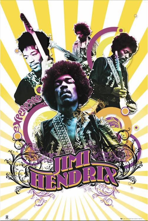Jimi Hendrix - collage Plakát
