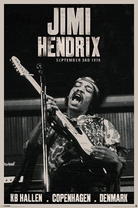 Jimi Hendrix - copenhagen Plakát