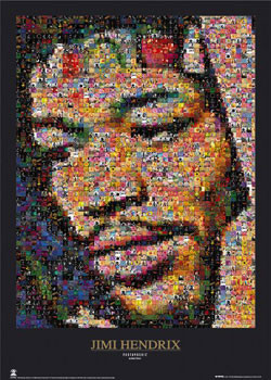 Jimi Hendrix - mozaika Plakát