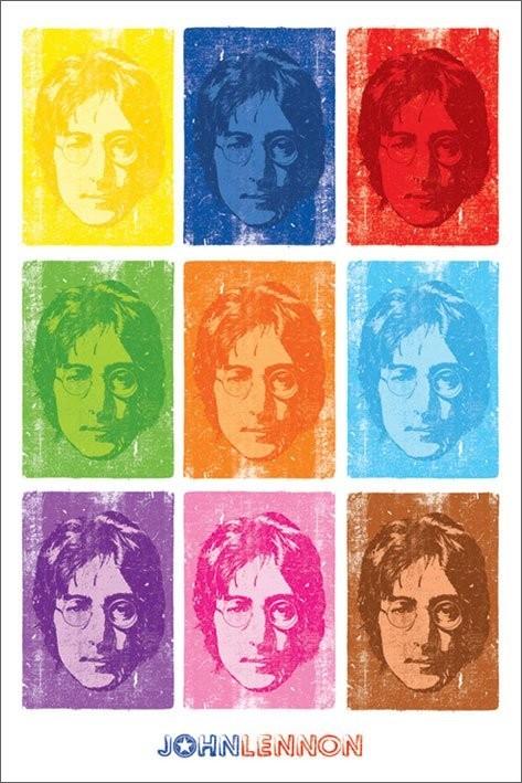 John Lennon - pop art Plakát