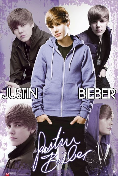 Justin Bieber - collage plakát