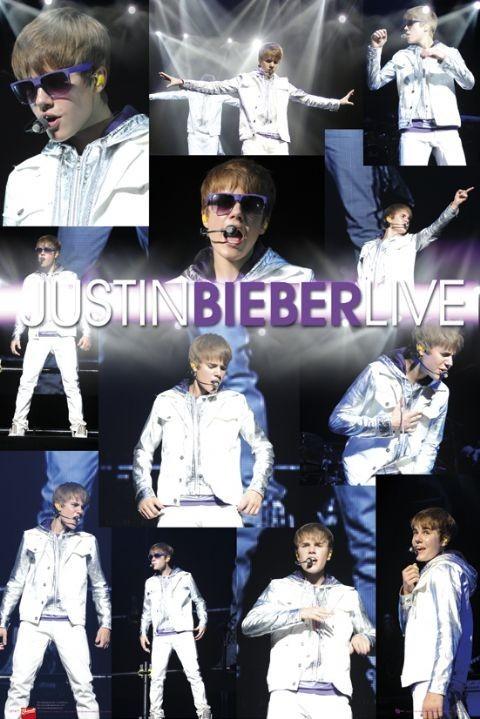 Justin Bieber - live Plakát
