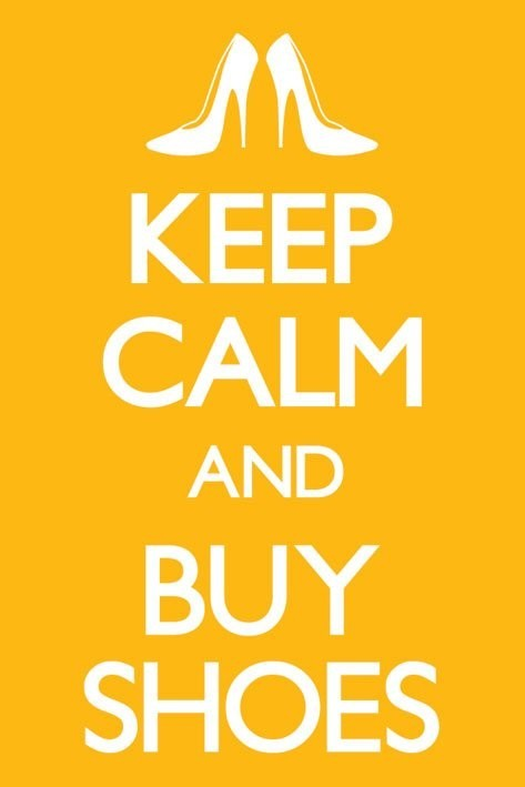Keep calm and buy shoes Plakát