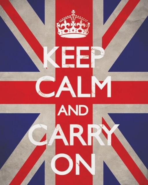 Keep calm & carry on - union Plakát