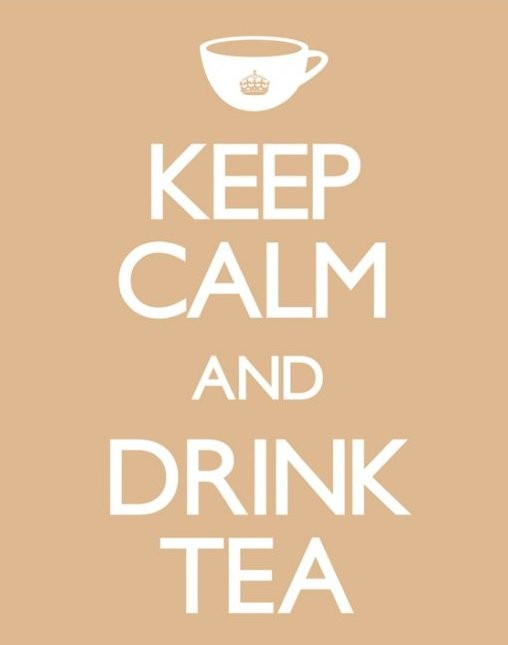 Keep calm & drink tea Plakát