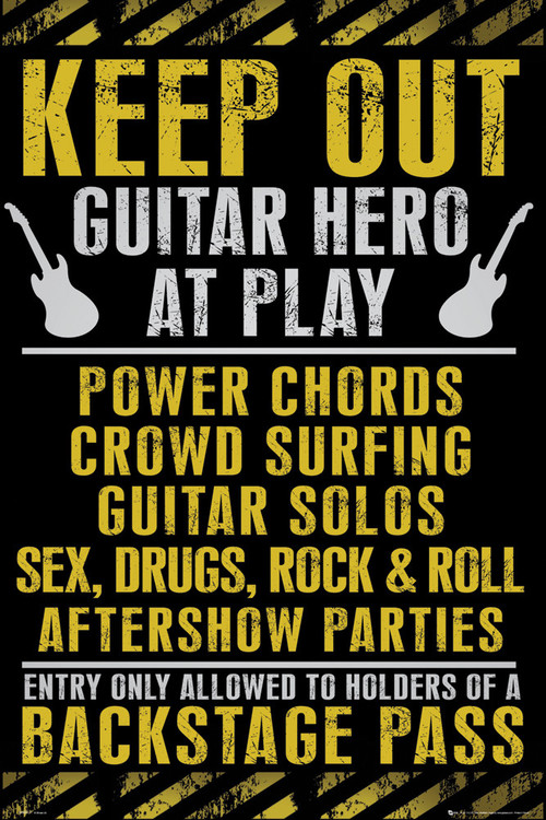 Keep out - guitar hero Plakát