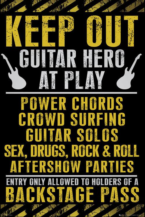 Keep out - guitar hero plakát