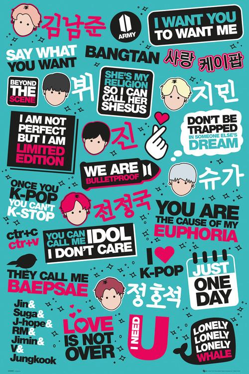 KPOP - Quotes Plakát
