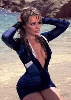 Kylie - beach Plakát