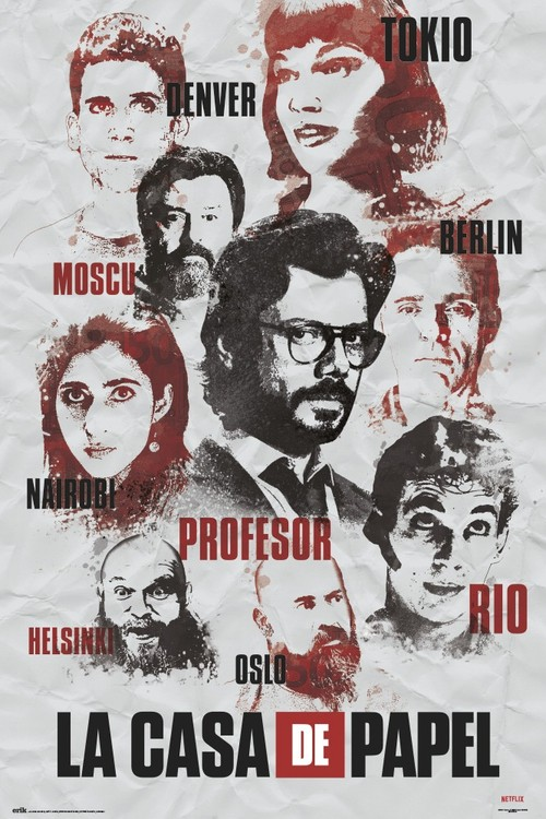 La Casa De Papel - Characters Plakát