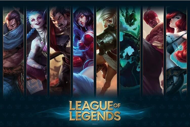 League of Legends - Champions Plakát
