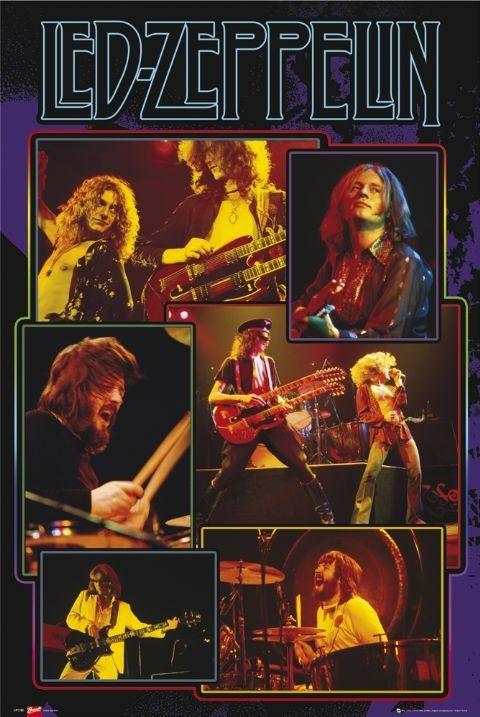 Led Zeppelin - collage Plakát