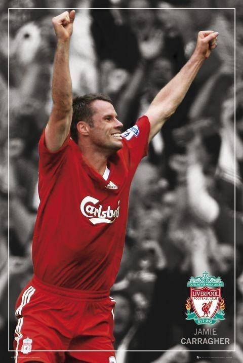 Liverpool - carragher pin up Plakát