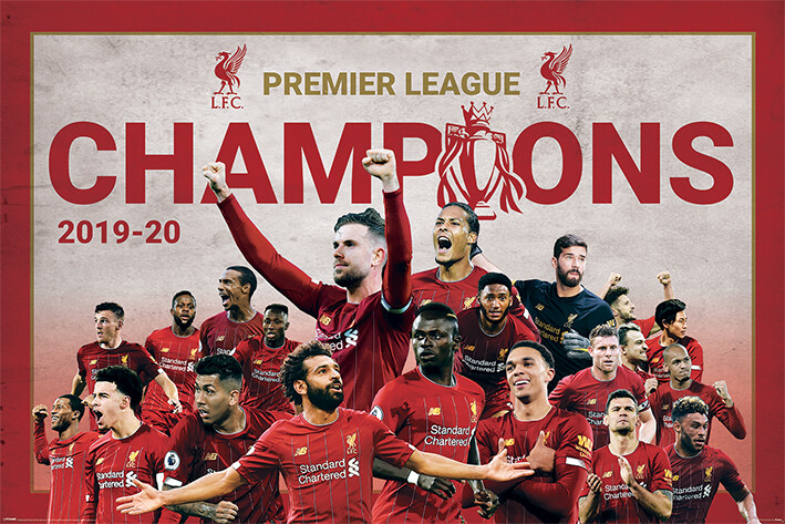Liverpool FC - Champions Montage Plakát