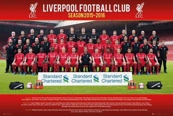Liverpool FC - Team Photo 15/16 Plakát