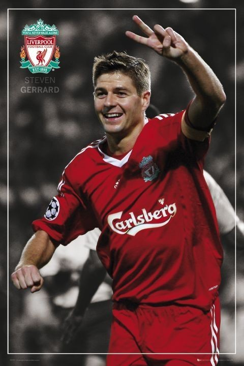 Liverpool - Gerrard pin up Plakát