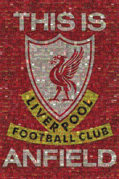 Liverpool - mosaic Plakát