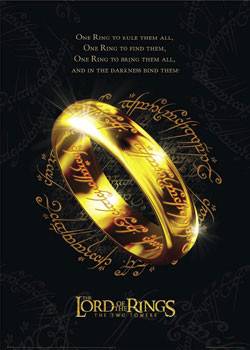 Lord of the Rings - the one ring plakát