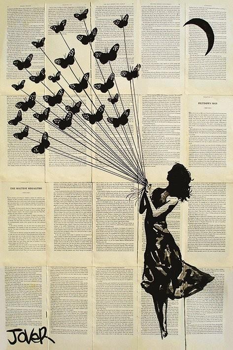 Loui Jover - Butterflying Plakát