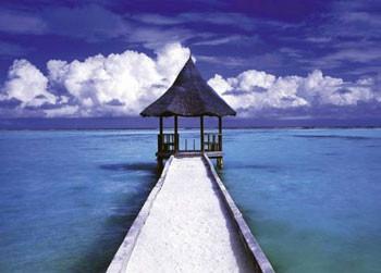 Maledives - hut Plakát