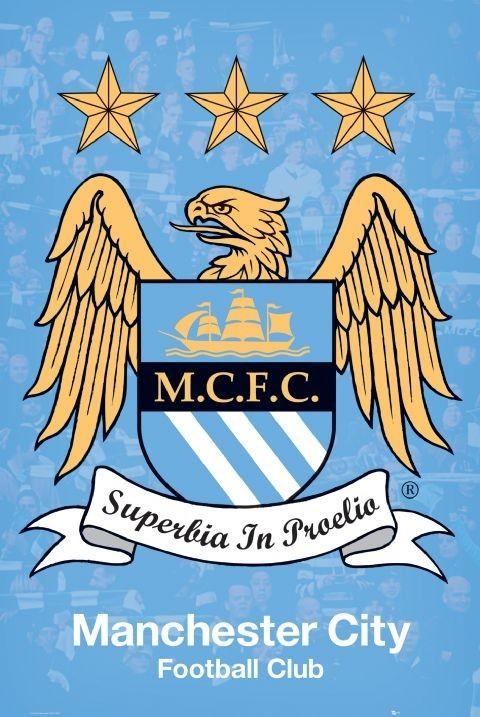 Manchester City - crest Plakát
